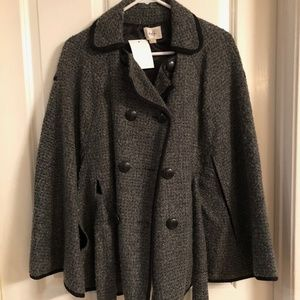 ECI Grey and Black Cape Jacket